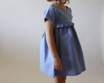 NEW Bohème Dress  / PDF sewing pattern / Children's sizes 2/3 to 8/9 / Instant download