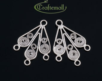 2 Sterling Silver Chandelier Earring Components - bcfc010