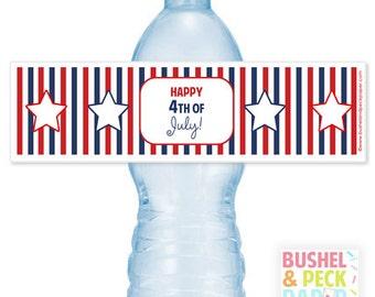 July 4th Bottle Labels
