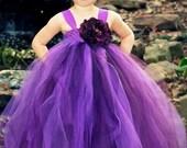 20% OFF SALE Decadently Purple Flower Girl Tutu Dress featuring purple and plum
