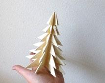 Origami Evergreen Tree, Christmas Tree, Papercrafts, Christmas Decor, Paper Forest Tree Forest, Evergreen, National Parks, Zen