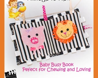 Baby Busy Book - Quiet Book - Playing and Chew Toy