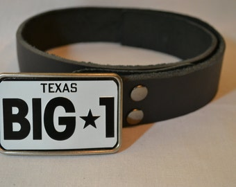 Texas License Plate Belt Buckle