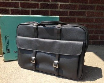 Vintage Samsonite Silhouette Gray Carryon Bag Suitcase with original box