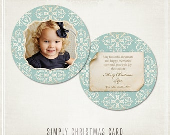 Simply Christmas Card or Ornament Template- WHCC Any Ocassion
