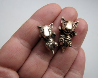 Bullterrier puppy dog necklace small