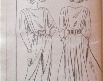 Mail Order Sewing Pattern - Front Tucked Jumpsuit and Dress - Mail Order 5584 - Sizes 14-16-18, Bust 36 - 40, Uncut