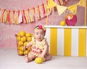 Pink Lemonade Rag Tie Garland