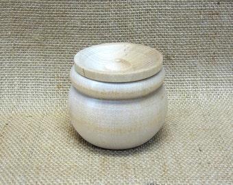 Wooden Bean Pot Trinket Box