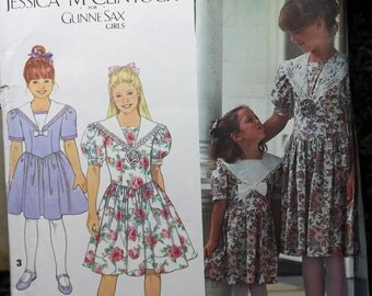 Kids Size 8 10 12 14 Simplicity 8255 Jessica McClintock Gunne Sax Girls Special Occasion Dress Uncut Sew Sewing Pattern