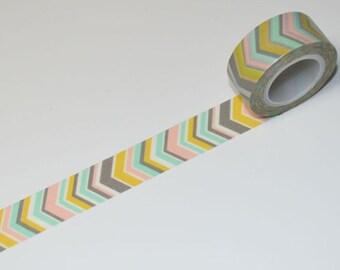 Big V Washi Tape - Arrow Vertical V 10 meters 19mm WT579