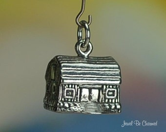 Barn Charm Sterling Silver Rural Farming Midwest Heartland