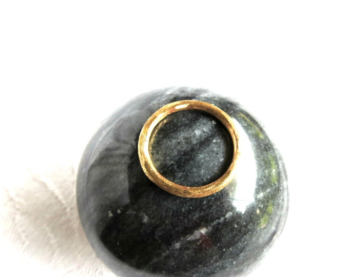 Unisex Ring, Brass Ring, Textured Thumb Ring, Gold Band, Stacking Ring, Knuckle Ring, Wedding Rings, Artisan Jewelry