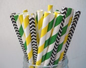 Tractor Party - Qty25 - Stripe Paper Straws - Paper Party Straws - John Deere - Farm party - Boy Birthday