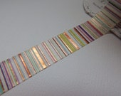 Stripe - Foil Tape - 10 yards - Gift Wrap - Packaging - Paper Tape - Metallic - Rainbow