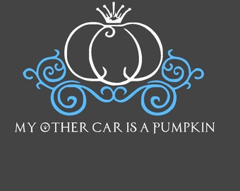 My Other Car is a Pumpkin Vinyl Car Decal