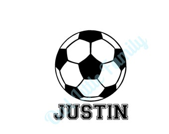 Personalized Soccer Iron On Vinyl Decal