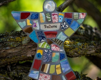 Personalized Mosaic Guardian Angel Made to Order