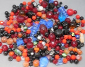 Mixed Lot 100s of Vintage Glass Beads from Broken Necklaces