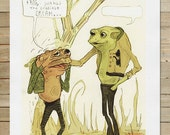 Frog and Toad | 8.5 x 11 in. Art Print | children's story book classic