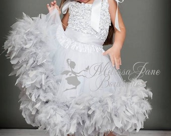 Sparkles and Shine Girls Feather Dress