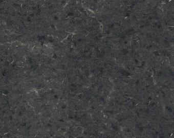 Black Hemp Handmade Paper 16x20 - Large Deckled Edge, Dark Fine Art Paper