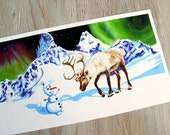 Frozen Art Print - Want to Build a Snowman