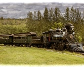 Old Train Steam Engine at the Fort Edmonton Museum in Edmonton Alberta Canada No.41262 A Historical Vintage Fine Art Photograph