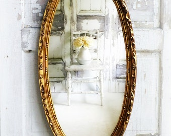 Image result for shabby chic decorating with gold mirror