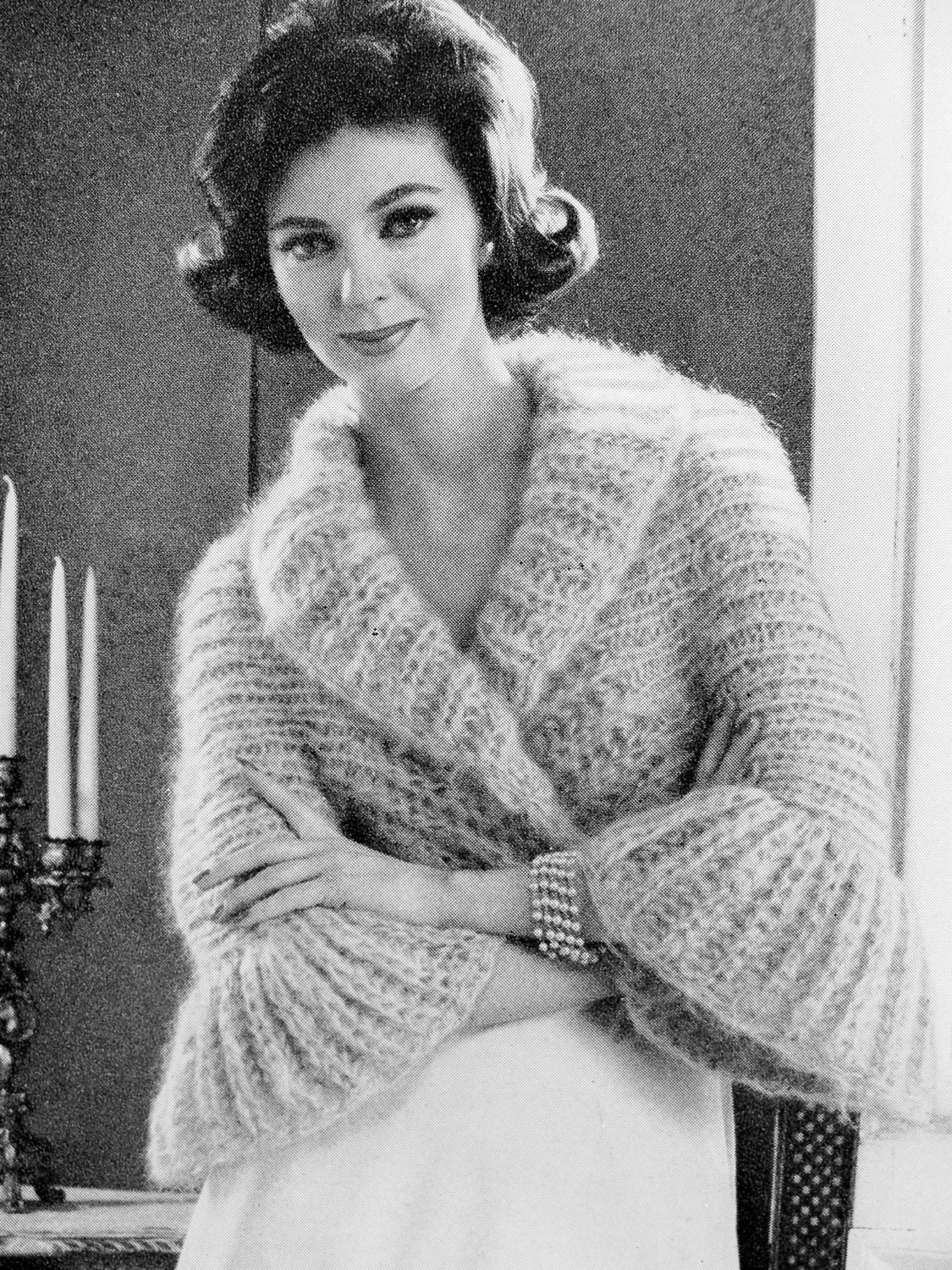 Old Knitting Pictures : Instant pdf pattern s vintage knitting shrug