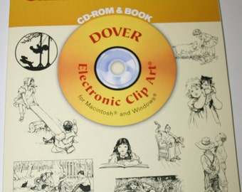 Dover Electronic Clipart Book and Cd Rom - Old Fashioned Children Illustrations