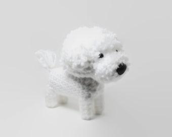 Bichon Frise Amigurumi Dog Stuffed Animal Crochet Dog Dog Doll / Made to Order