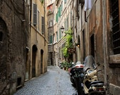 Rome Art - Rome Italy Photography - Italian Wall Art Streets of Rome Print Vespa Photo Roman Architecture Street Photography Rustic