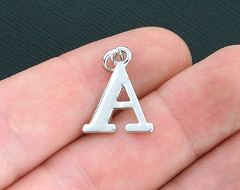 4 Alpha Greek Letter Charms Antique Silver Tone - SC4028