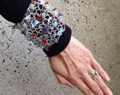 Multi-stoned wrist cuff bracelet RESRVED FOR LIZ