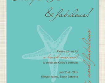 PRINTABLE - Birthday Invitation (Beach Weekend)