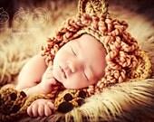 Newborn Baby Boy Photo Prop Lion Hat with Booties
