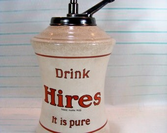 Antique Hires Root Beer Syrup Dispenser - Soda Fountain - General Store