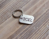Hand Stamped Custom Keychain - Aluminum - Personalized - Be You - Inspirational - Valentine's Day Gift
