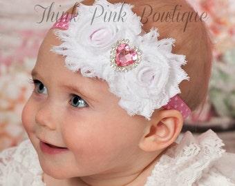 Baby Headbands, Pink Baby Headband,pink headband,baby headband,valentines headband , baby girl headband, easter headband, newborn headband.