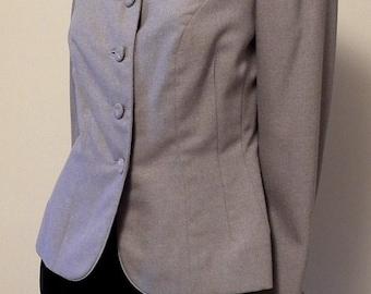 1940s Vintage Fitted Rayon Gabardine Jacket