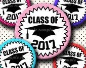 INSTANT DOWNLOAD Class Of 2017 (634) 4x6 Bottle Cap Images Digital Collage Sheet for bottlecaps glass tiles hair bows .. bottlecap images
