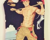 Sexy Bryan the Fireman - Oven Mitt - Fully Revealed Novelty Gift White Elephant Housewarming Christmas Hostess Gag Gay