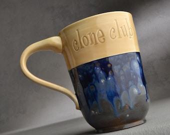 Clone Club Mug Made To Order Coffee Tea Cocoa Mug Symmetrical Pottery