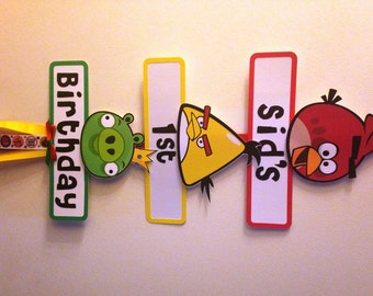 Angry Birds Party Sign