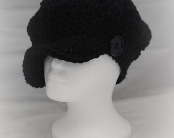 Crochet Chunky Newsboy Hat - Child and Women Sizes - Made to Order