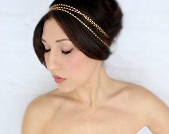 Rhinestone Headband, Gold, Crystal Headband, Wedding Tiara, Tiara, Rhinestone Tiara, Bridal Tiara, Wedding Headpiece, Wedding Crown
