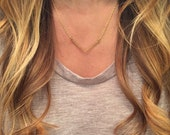 Brass Minimalist Necklace