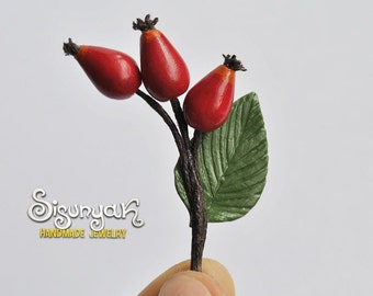 Rose Hip Brooch
