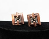 Modernist Copper Earrings - Renoir, 1950s